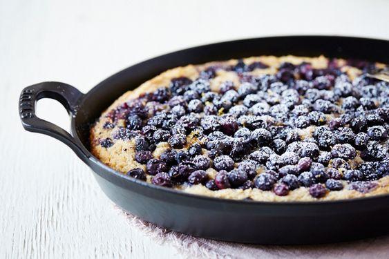 blueberry-and-ricotta-skillet-cake